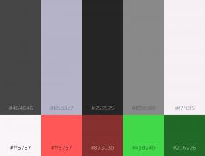 Charcoal Color Pallet