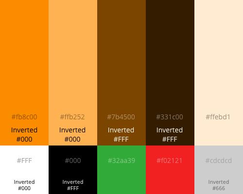Orange Boxed Palette