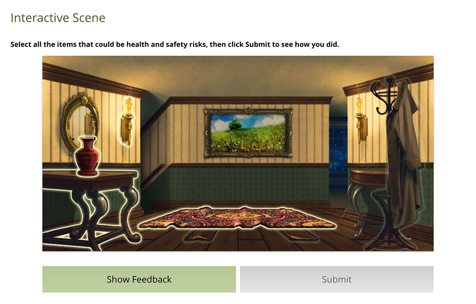 example of an interactive scene component